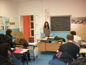 Una lezione nelle nostre aule a Villa Sciarra
