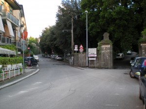 L'ingresso di Villa Sciarra